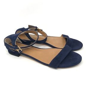 J Crew Hadley Suede Ankle Strap Sandals G2390 8